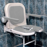 AKW 04260 P     Standard Fold Up Horseshoe Seat With Back and Arms Grey (includes padded arm and seat cushions)      OUR PRICE £267.98